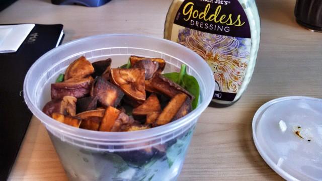 82714 salad plus sweet potatoes