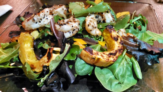 shrimp and squash salad
